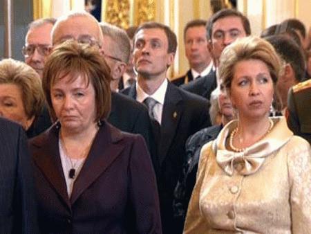Людмила Путина на инаугурации Медведева Д.А. 7 мая 2008 года