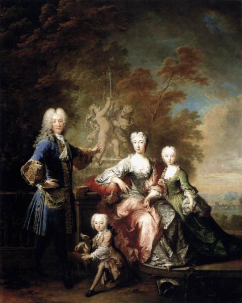 1727 Robert Tournieres. Count Ferdinand Adolf von Plettenberg and his family