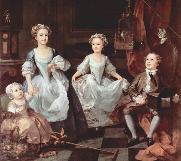 1742 William Hogarth. Potrait of Grahams' childern