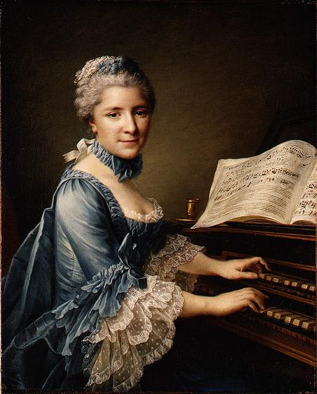1757 Francois Hubert Drouais. Madame Charles Simon Favart (Marie Justine Benoite Duroneceray 1727-1772)