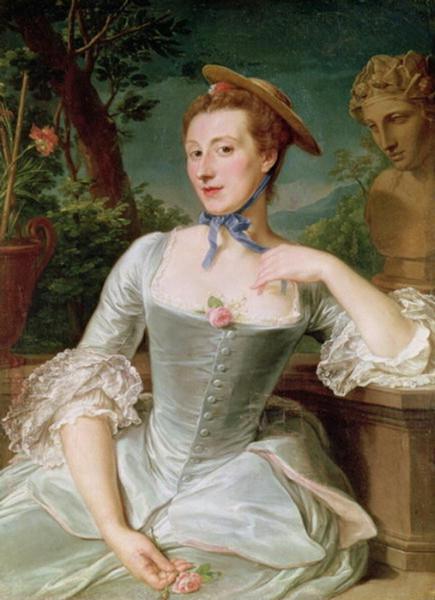 1745-50 (c.) Francois Hubert Drouais. Jeanne Antoinette Poisson