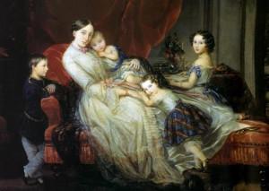детские юбки в яркую темную полоску