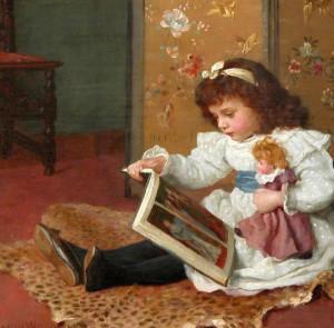 Charles Haigh Wood (1856-1927)  Storytime