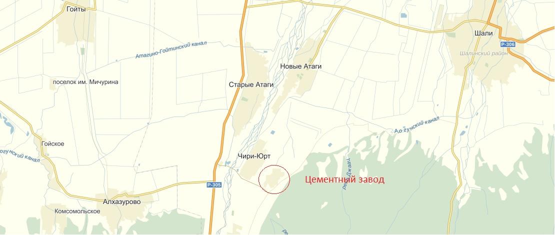 Схема цементного завода 166 ОМСБР