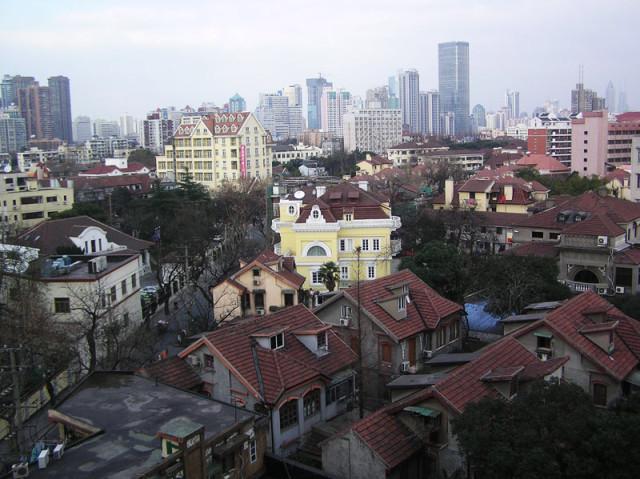Шанхай из окна