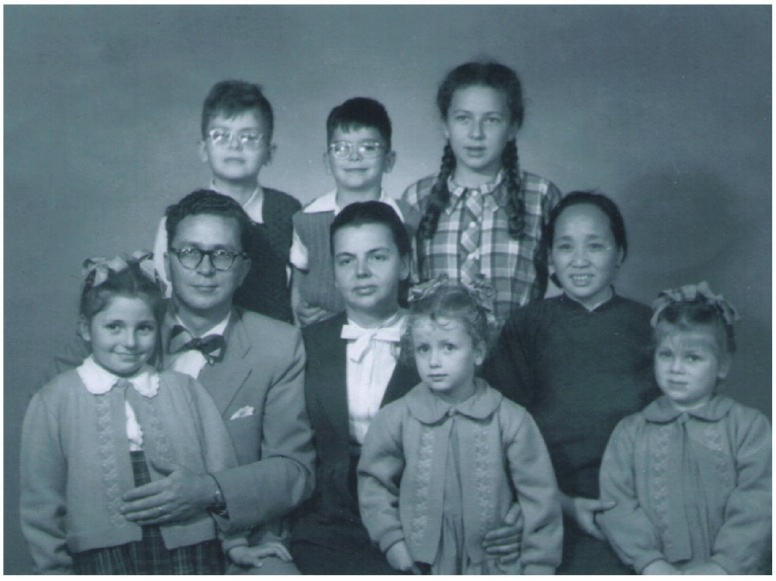 Smolnikoff and Family with Ayi in 1954