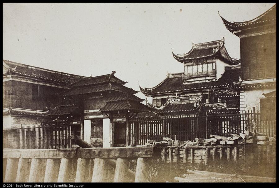 Hong of W.R. Adamson & Co., and Bund, looking north, Custom House visible 1857 VH01-027.jpg