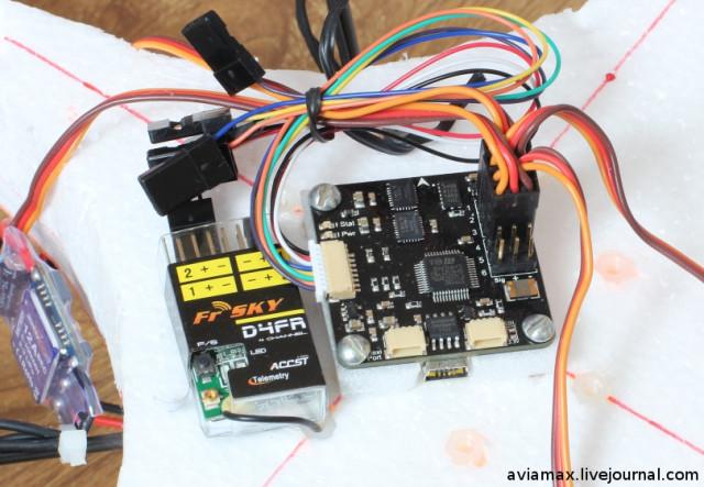 CopterControl FrSky DIY peno quadrocopter