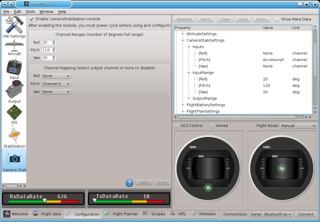 Openpilot GCS Ground Control Station Camera Stabilization module