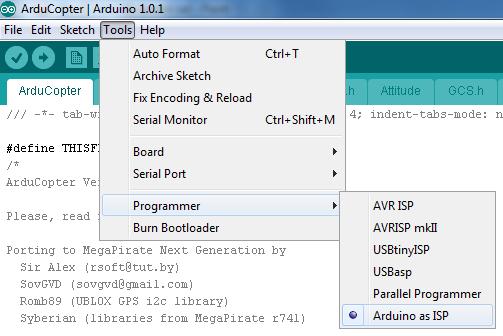 Arduino Programmer select