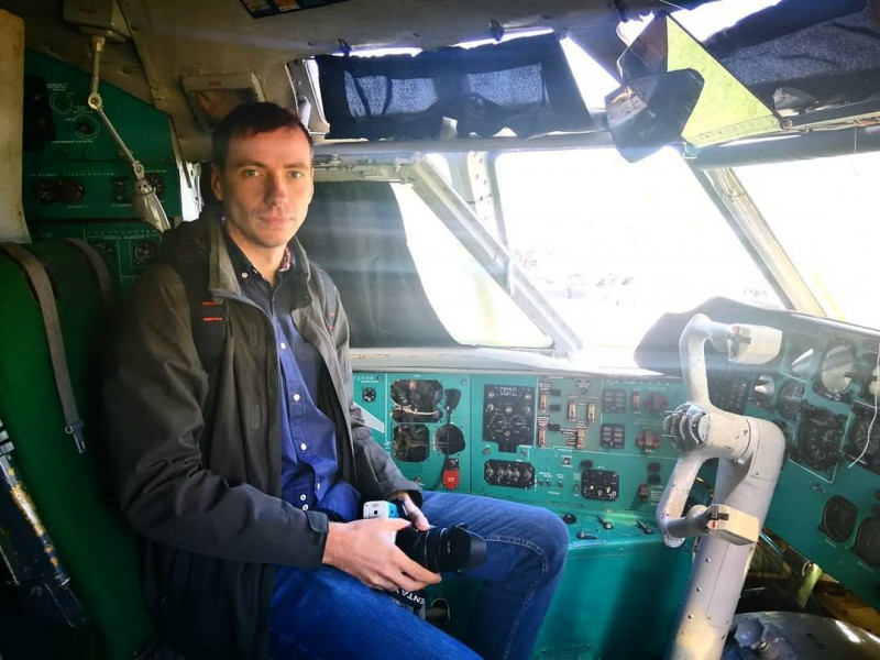 Селфи в кабине самолёта