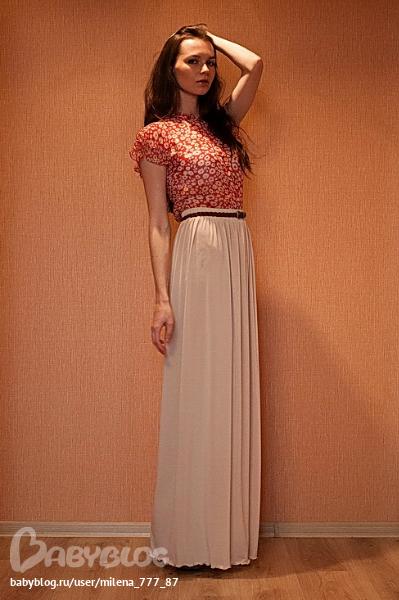 юбка-макси TM Cher Nika Материал трикотаж микро-масло