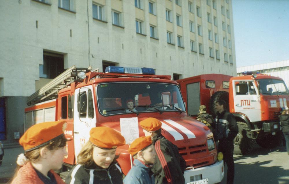 Пожарный праздник в Мурманске, 1 мая 2006 года