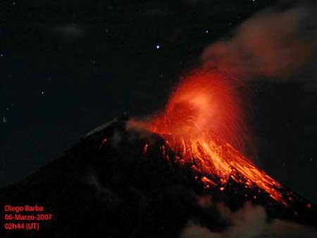Вулкан Тунгурагуа, 5 марта 2007 года
