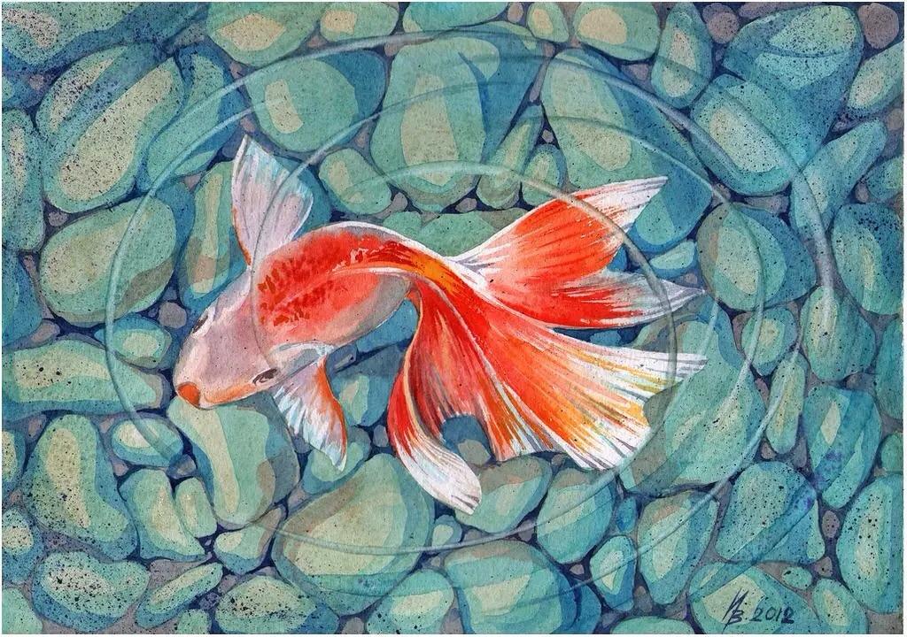 Рисуем акварелью рыбки
