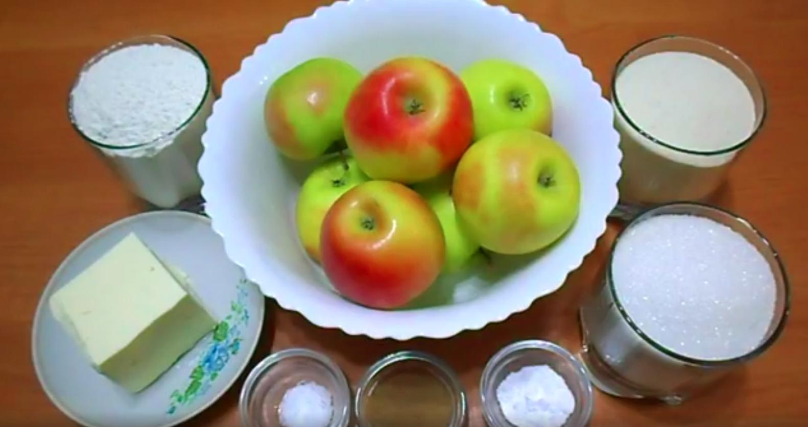 Как сделать ЯБЛОЧНЫЙ ПИРОГ из насыпного теста с яблоками и корицей