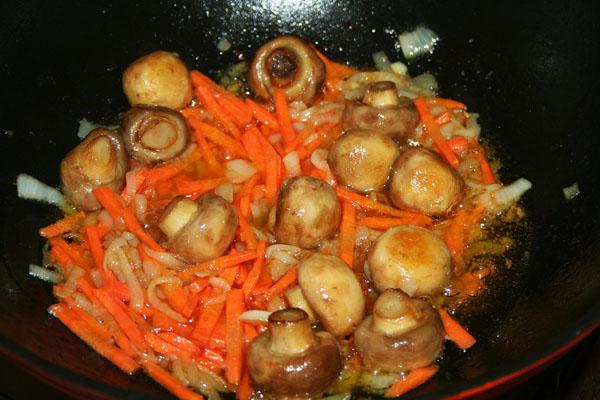 грибы овощи