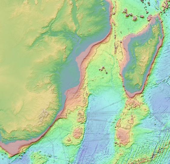 Африка Мадагаскар рельеф