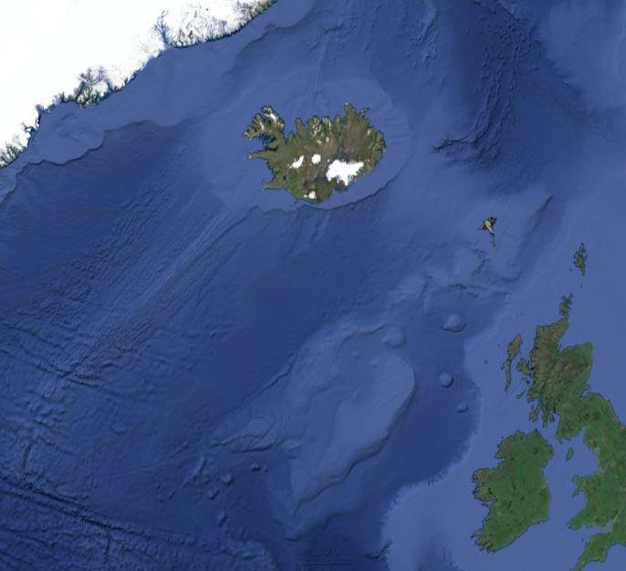 Возможный сдвиг Исландии