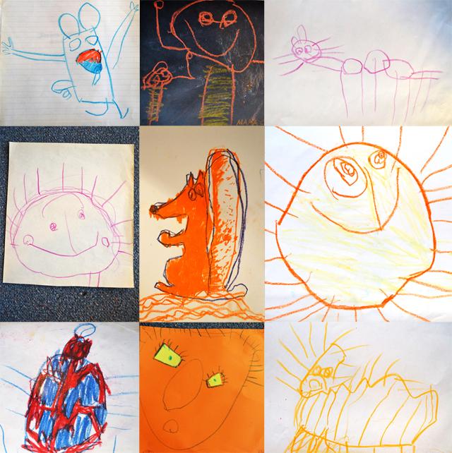 Галерея работ Оливии 2.5 лет до 3 лет и 2 месяцев