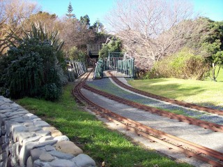 Ride-on railway at Raumati Marine Gardens, 1