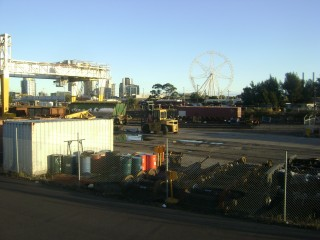 Looking over Dynon Yard to the Melbourne Eye