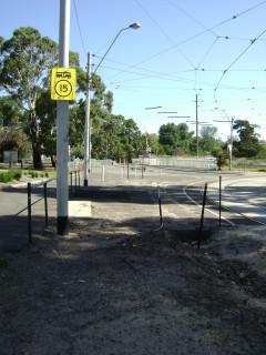 Former southbound Poplar Road tram stop
