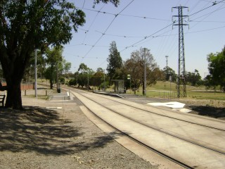 Old and new Melbourne Zoo tram stops