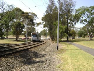 Z3 tram approaching Elliot Ave