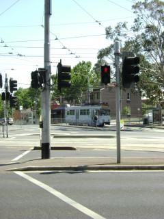 Z3 tram on Abbotsford Road