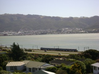 EM class unit alongside Porirua Harbour