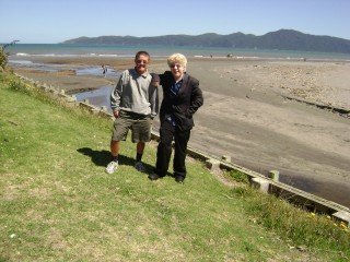 Tony and I at Raumati Beach
