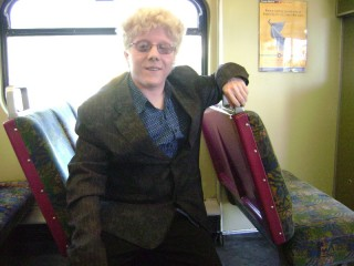 Me aboard the train
