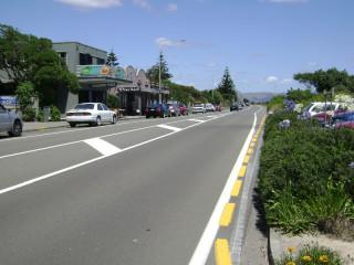 Looking south along Marine Parade, Paraparaumu Beach