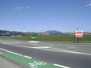 Kapiti Airport as seen from Kapiti Road