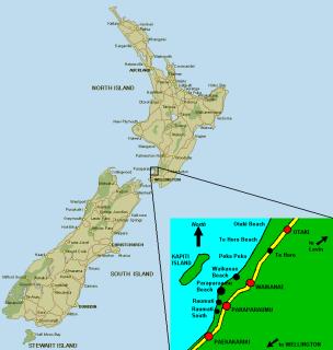 Location of Kapiti Coast