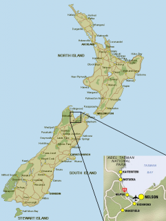 Location of Tasman Bay