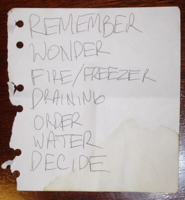 Setlist for El May, 16 February 2008