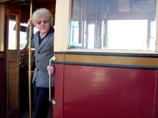 Me in the door of Wellington tram 239