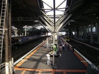 Comeng and X'Trapolis trains at Spencer Street Station