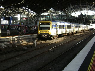 X'Trapolis train at Spencer Street Station