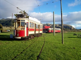 Trams 159 and 239 at the Museum's main station