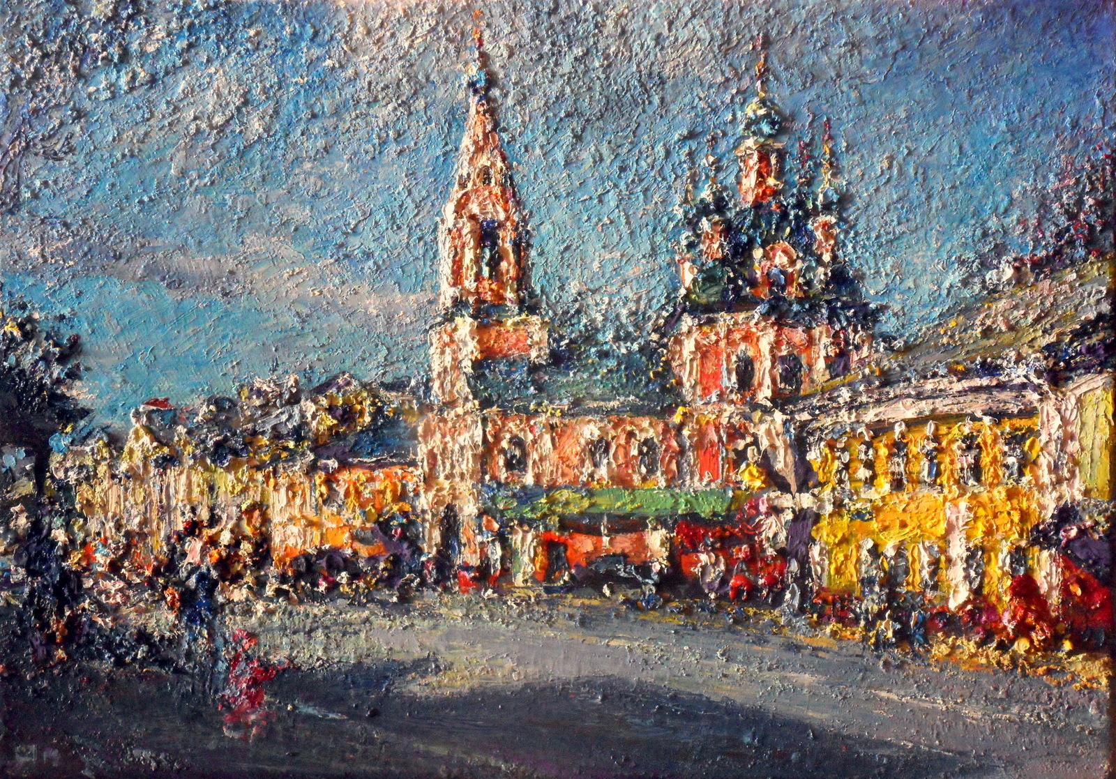 Улица Ростовская в Переславле-Залесском 2019 х.м. 25х35 -8 000 руб.