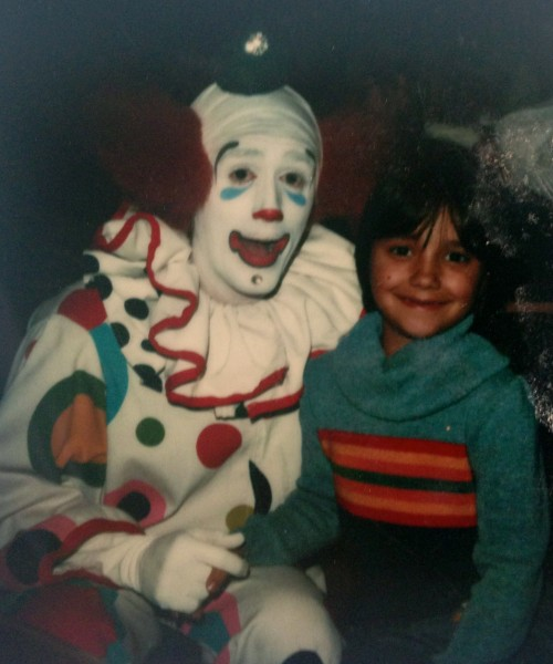 me and some clown