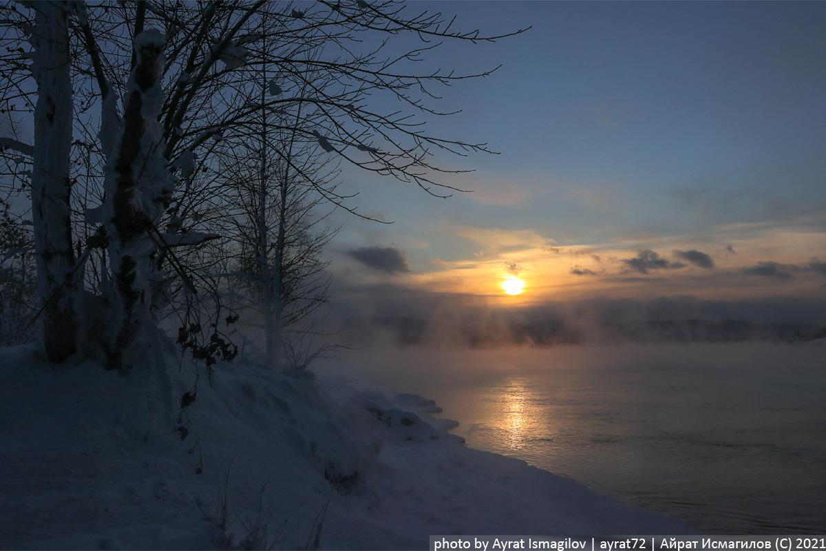 Почему Енисей зимой не замерзает?