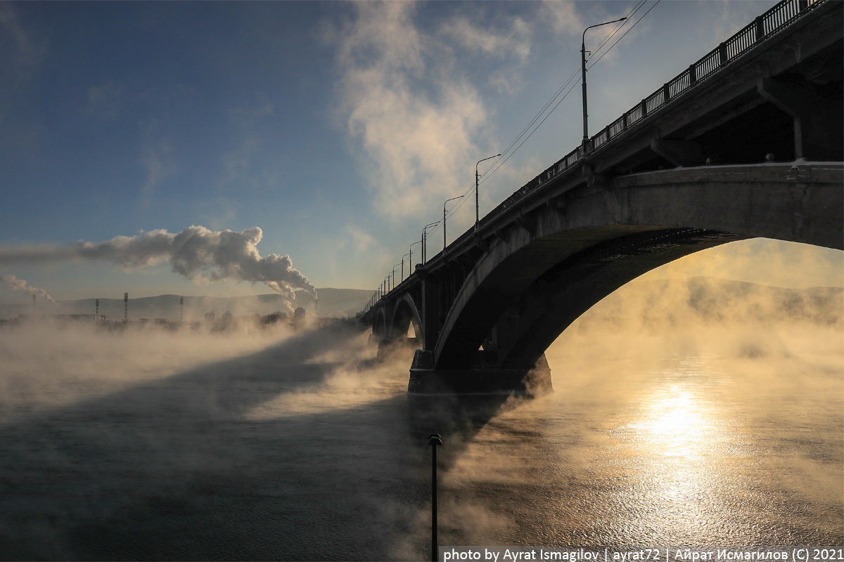 Почему Енисей зимой не замерзает? Красноярский край,Россия,путешествия,Сибирь