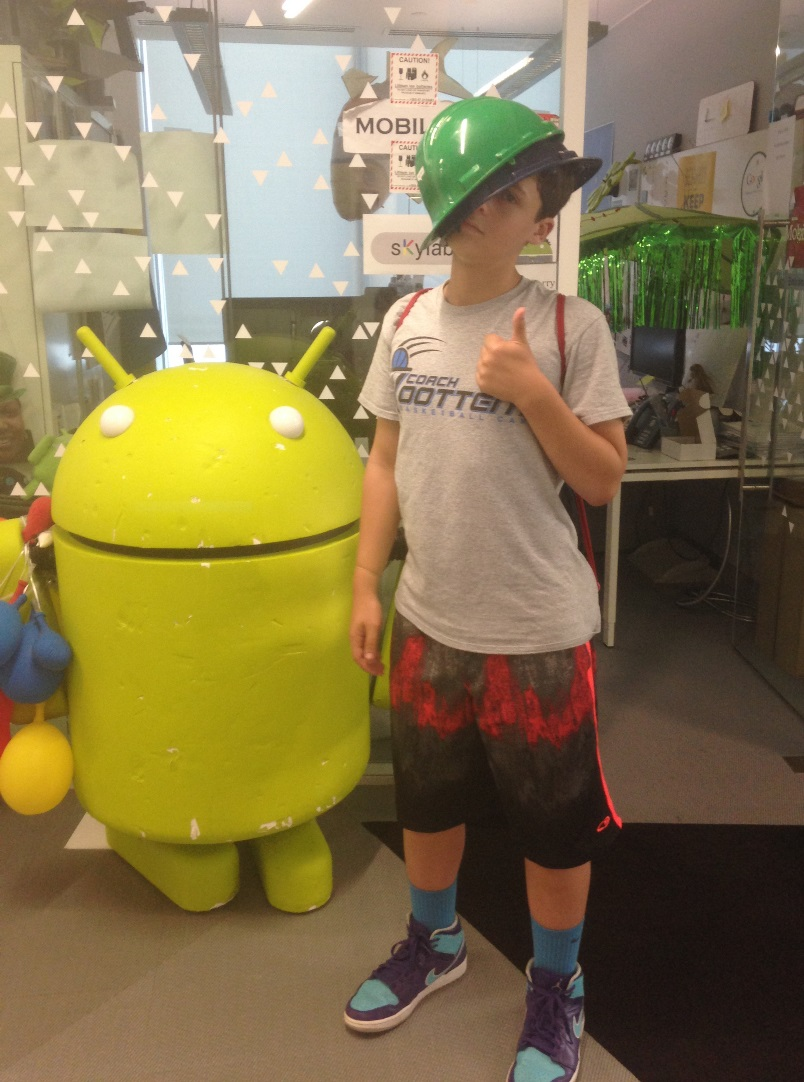 Nathan with Google Monster 2