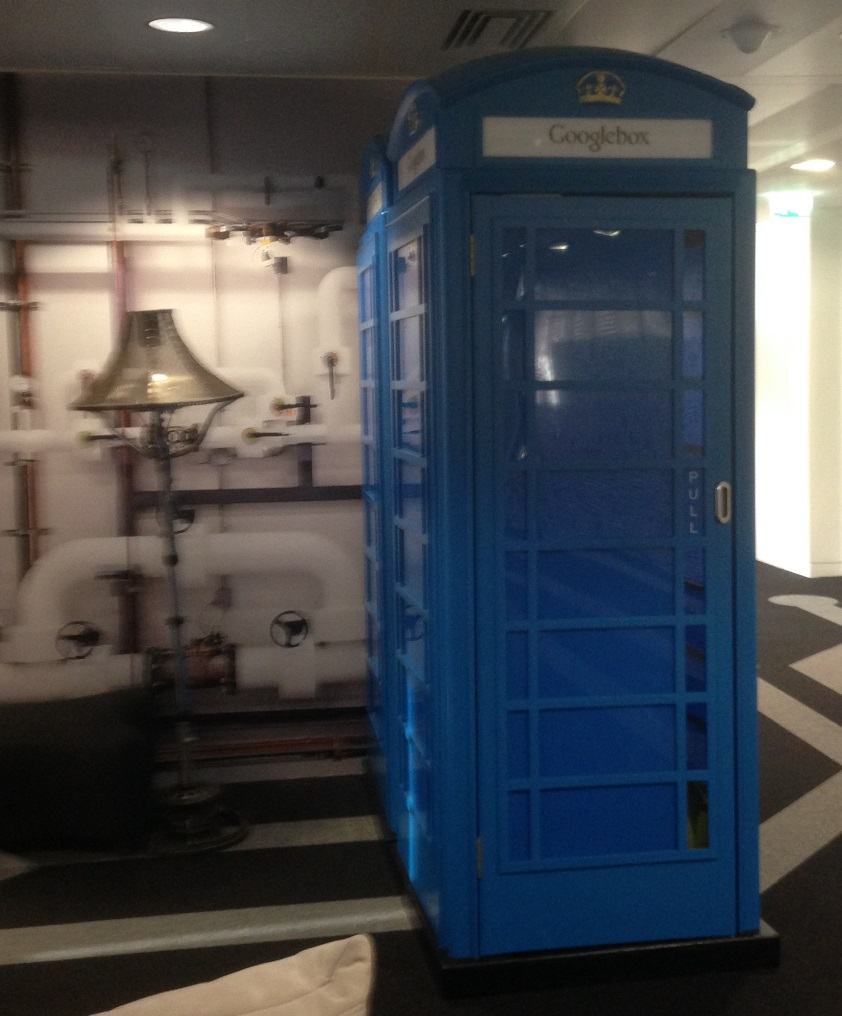 Google phone booth - blue