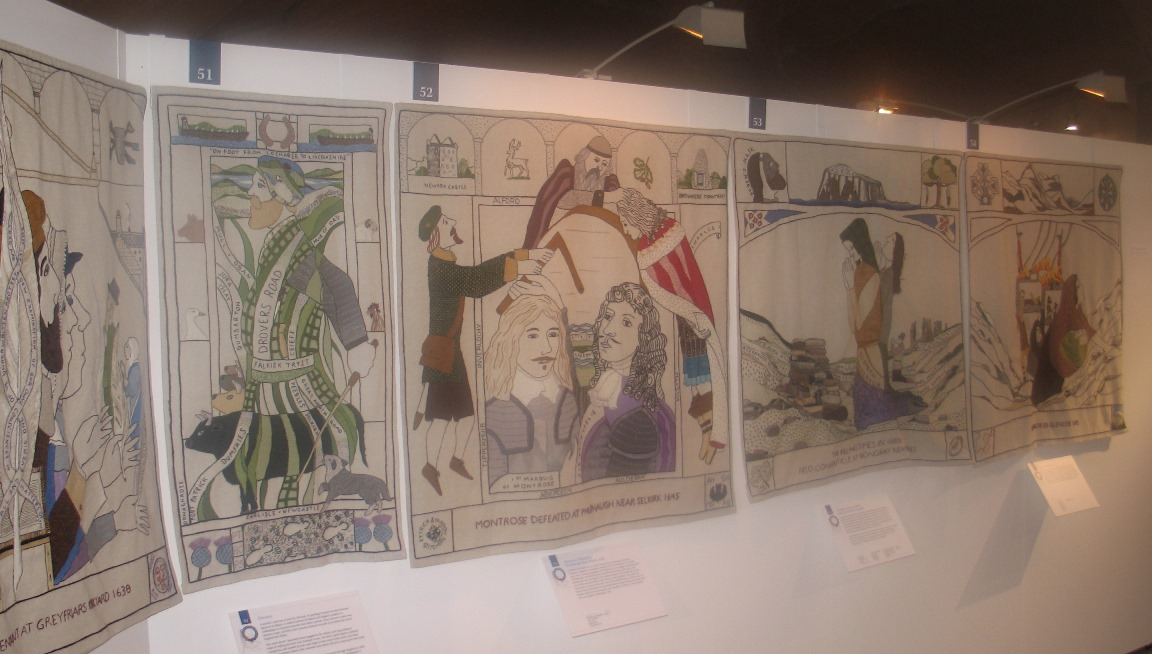 Scottish Parlament - history quilts