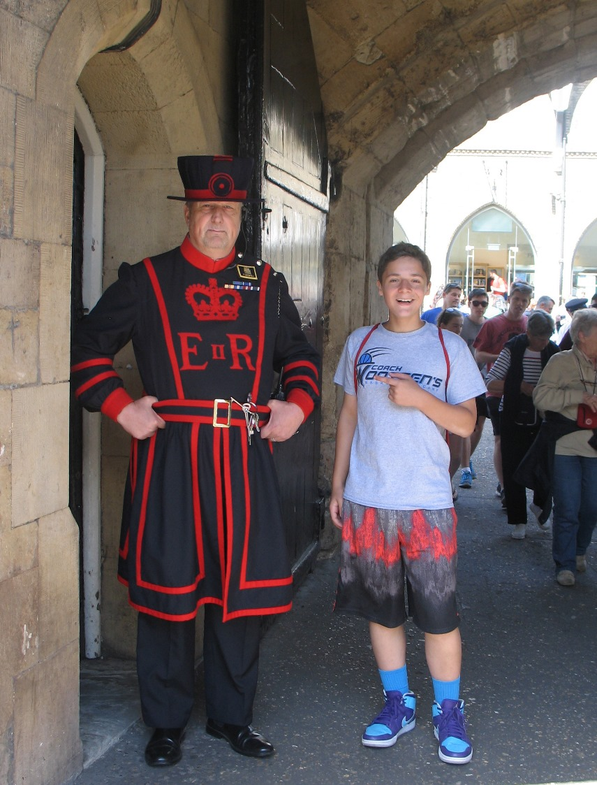 Nathan with a Beefeater